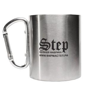 "Кружка с карабином ""STEP"""
