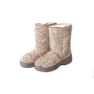 Ботинки войлочные женские с липучкой (арт.8-48-4П)